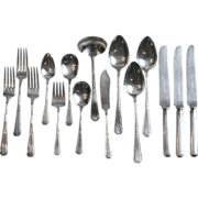 15 Pieces 1923 Rogers Mayfair Silverplate Flatware Including 7 Serving Pieces International Silver Co.