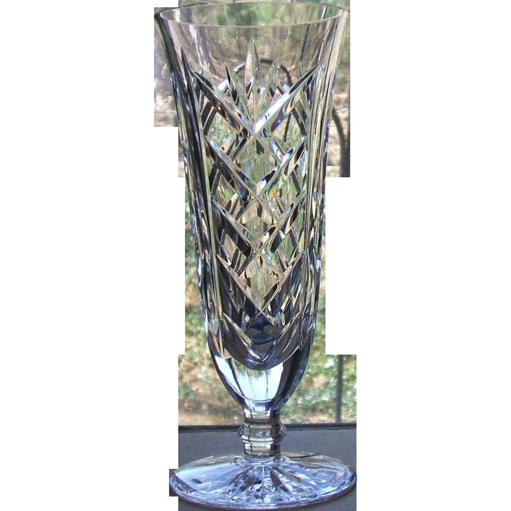 Vintage Waterford Ireland Crystal 7 Inch Footed Flower Vase Sold On Ruby Lane