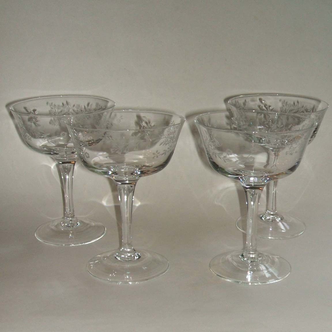 noritake carolyn crystal set of 4 sherbet coupe champagne glasses from missingmemories on ruby lane. Black Bedroom Furniture Sets. Home Design Ideas