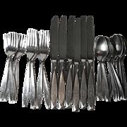 30 Pc Set International Insico Nassau Stainless Steel Flatware Mono G Six 4 Piece Place Settings Six Extra Teaspoons