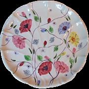 Blue Ridge Southern Potteries Chintz Flat Shell Bon-bon Large Sweet Dish 9 1/2 Inch