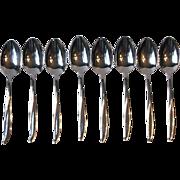 Gorham Stegor Waikiki Set of 8 Oval Bowl Soup Spoons Stainless Steel USA