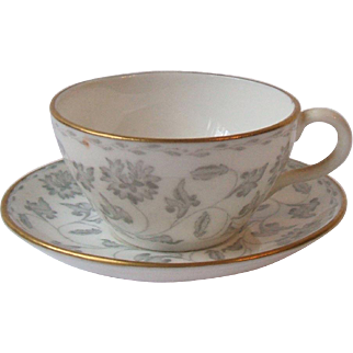 Spode Bone China Colonel Gray Miniature Cup and Saucer Set Y7832 1960s England