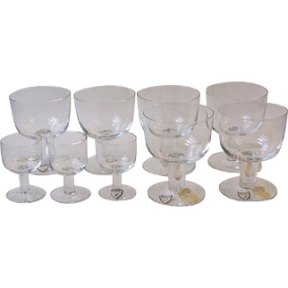 9 Pieces Vintage Orrefors Crystal Possibly Picnic Student Clear New Unused