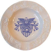 Vintage Wedgwood China US West Point Military Academy Ashtray Blue USMA Seal