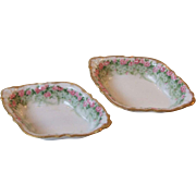 2 Guerin Pouyat Limoges France Porcelain Open Salt Cellar Dips Nut Dishes Bawo and Dotter Elite Works