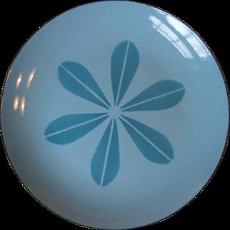 Cathrineholm Norway Blue on Blue Lotus Enamel Dinner Plate 10 1/4 Inch Mid Century Modern