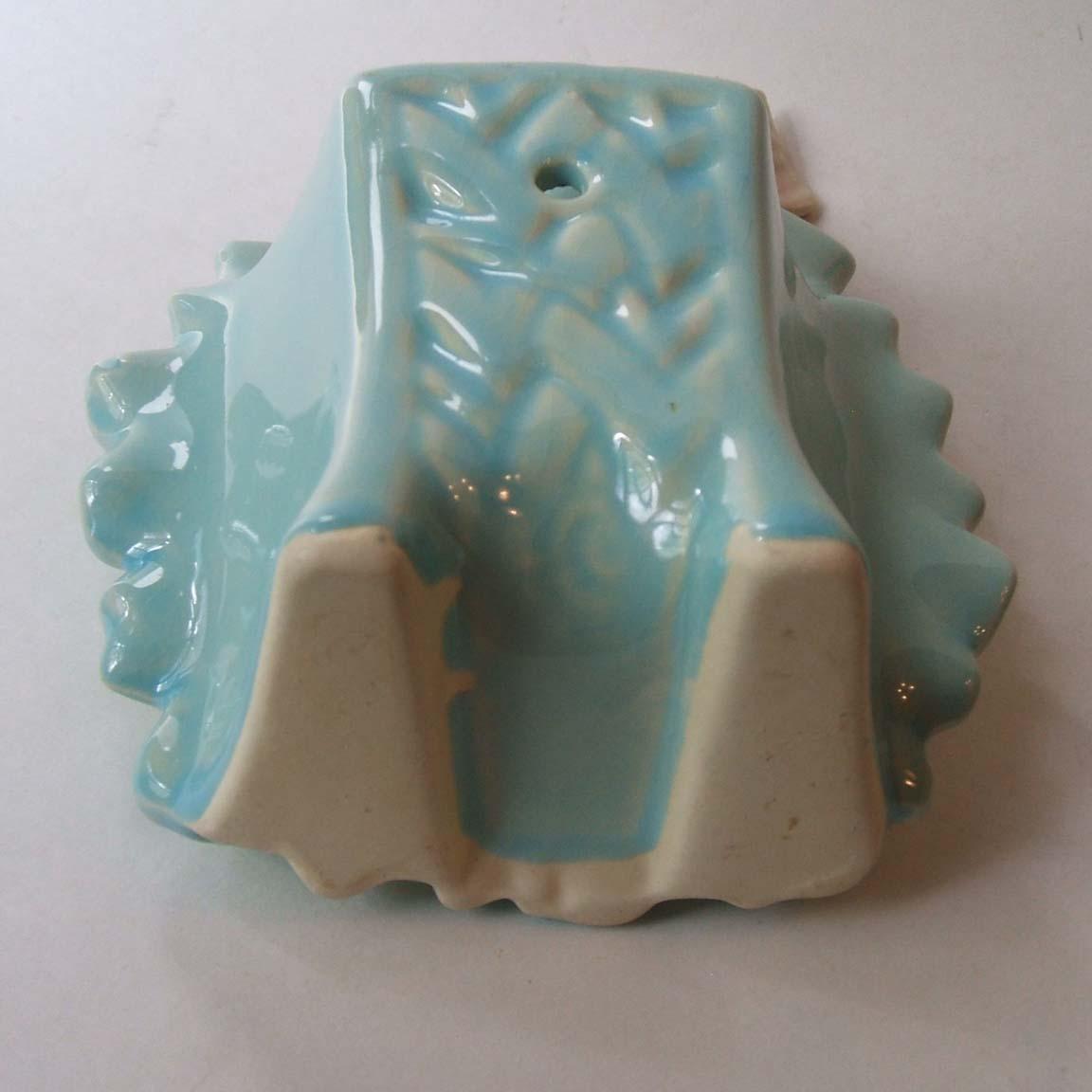 Vintage Mccoy Pottery Bird On Sunflower Wall Pocket Vase