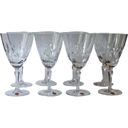 8 Noritake Japan Sweet Home Crystal Water Goblets