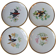 Set of 4 Hutschenreuther China Audubon Bird Coasters Germany