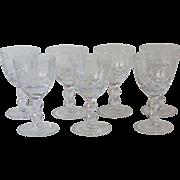 Vintage Pasco Elmwood Crystal Stemware 7 Cordial Glasses 3.25 Inch