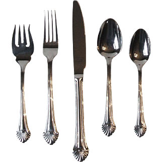 Reed & Barton Seafare Flatware 5 Piece Place Setting 18/8 Stainless Steel