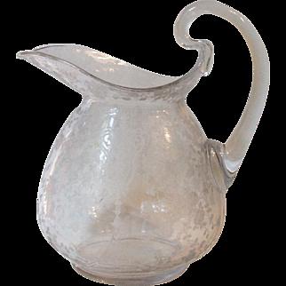 Cambridge Glass Rose Point Clear 76 Oz Doulton Pitcher 3400 152