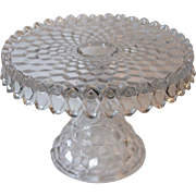 Fostoria American Round Cake Stand Salver 063 With Rum Well