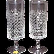 2 Vintage Rosenthal Motif Crystal Water Goblets Romance I Stem