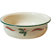 Lenox Chinastone Country Holly Soup Cereal Bowl Made in USA