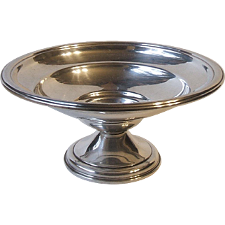 1915 International Sterling Silver Berkeley Colonial T210 Low Short Compote 6.5 x 3 Inch