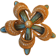Vintage Bellini by FormArt Flower Form Statement Brooch Pin Signed