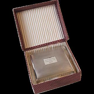 1964 Cunard Line Ship RMS Caronia World Cruise Sterling Silver Cigarette Box Harman Bros. England