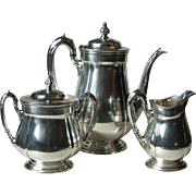 Reed and Barton 4070 Sir Lancelot Silverplate Hollowware 3 Piece Coffee Service