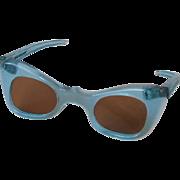 Vintage Doll Blue Sunglasses for Madame Alexander Cissy or Terri Lee Dolls France 3 Inch