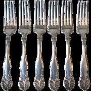 Six Dinner Forks Oneida W.R. Keystone 1905 Lenora Leonora Silverplate Flatware