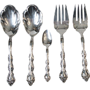 International Silverplate 1971 Interlude Flatware 2 Meat Forks 2 Casserole Serving Spoons 1 Fruit Spoon