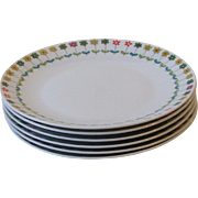 Rosenthal China Emilio Pucci Piemonte Set of 6 Salad Plates Mid Century Germany