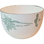 Vintage Hackman Arabia Finland Anthriscus Cerefolium Chervil Herb Enamel Bowl Kaj Franck