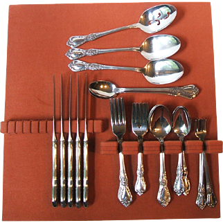 Oneida Kennett Square Stainless Service 5 Seven Piece Place Settings 3 Serving 38 Piece Set