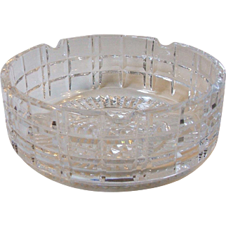 Vintage Waterford Crystal Large Cigar Ashtray 700/398 Signed 7 Inch Diameter