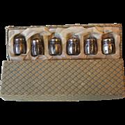 Vintage Vincent Lollo VL Sterling Silver 6 Individual Salt and Pepper Shakers in Original Box
