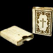 "French Miniature Book ""Paroissien des Petites Demoiselles"" with its Original Case Cover - Editor Firmin DIDOT"