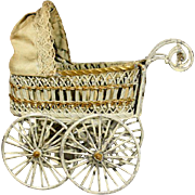Antique Soft Metal Pram for your Mignonette