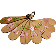 Antique Miniature Doll Fan for Fashion Doll