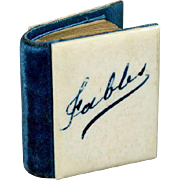 """French Minuscule Book with Engravings """"Fables"""""""