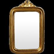 Antique Miniature Ormolu Wall Mirror by Erhard & Sohne