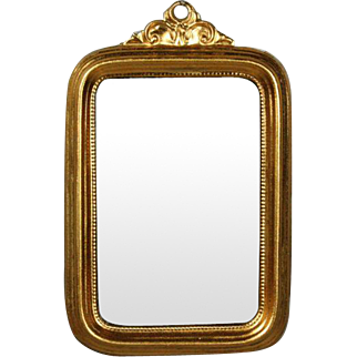 Antique Miniature Ormolu Wall Mirror by Erhard & Sohne