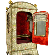 Luxurious Antique French Musical Sedan Chair with French Brocade