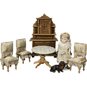 Antique German Dining Set with Dessert Cabinet for your Dollhouse