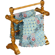 Antique Dolls House Towel Rack by Schneegas