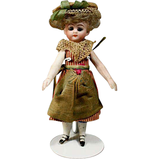 Solid-Domed All-Bisque French Mignonette in Original Costume