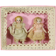 All-Bisque French Babies in Presentation Box