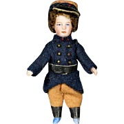 Antique All-Bisque Lilliputian Doll - The French Soldier