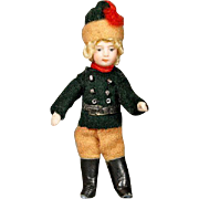Antique All-Bisque Lilliputian Doll - The Tiny General