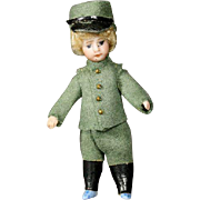 Antique All-Bisque Lilliputian Doll - The Canadian Soldier