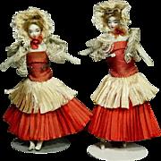 Dollhouse dolls in Ballet Costume