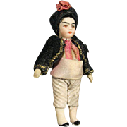 Rare Antique French Lilliputian Doll - The Asian Boy