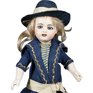 German All-Bisque Miniature Doll by Simon & Halbig in Exceptional Size