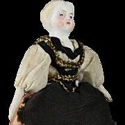Antique Dollhouse Doll in Original Costume